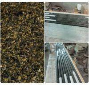 Quality Green Solid Granite Worktops 250MPA Compressive Strength SGS Standard wholesale