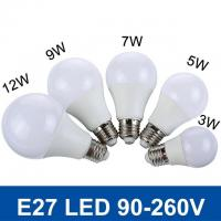 China SMD5730 Fast Heat  E27 3W/5W/7W/9W/12W 220V/110V Real Watt Bright Lampada LED Bulb on sale