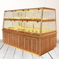 Quality Bread Cake Shop Display Showcase Wood / Glass Material With Energy Saving LED Light wholesale