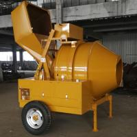 Quality JZR350A Air Cooled Diesel Concrete Mixer with Hydraulic Tipping Hopper 560L wholesale
