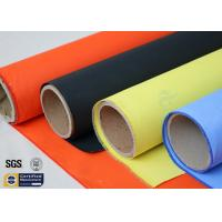 Quality Acrylic Coated Fibreglass Fabric Orange 7628 260℃ 500℉ Chemical Resistant wholesale