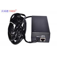 Quality Black POE Power Adapter 10 / 100Mbps IEEE 802.3af Compliant Compact Size wholesale