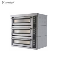China Rotary French Pita Bread Bakery Oven Machine 3 Deck 3 Trays on sale