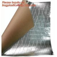 Cheap Aluminum Foil-Scrim-Kraft Paper Facing insulation material for building construction,radiant barrier laminated woven clo for sale