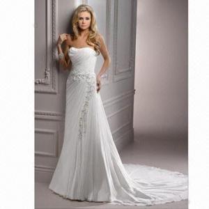 Quality Elegant Chiffon New Arrival Cheap Wedding Gown wholesale