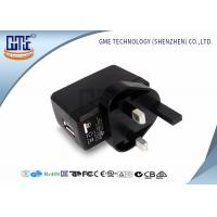 Quality CE Universal Travel Adapter USB , Black UK AC DC Plug Adapter wholesale