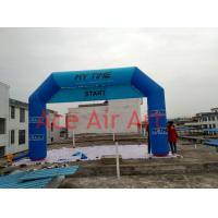 Quality giant advertising  inflatable regio bank arch with 2 changable banner of START FINISH  for neterlands for sale wholesale