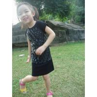 Quality Checked Faux Fur Leather Girls Fall Dresses Zip Back Cute Dresses For 7 Year Olds wholesale