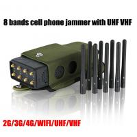 Buy cheap 5.5W High Frequency Jammer 8 Antenna , Portable Cell Phone Jammer With Nylon from wholesalers