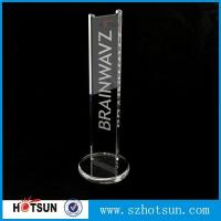 Quality earphone stand acrylic crystal clear fits virtually all earphones wholesale