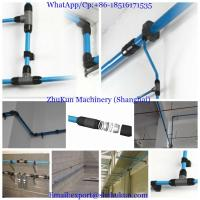China Easy and fast installation aluminium pipe tube for compressed air for texitle industry diameter 80mm on sale