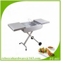 Quality Stainless steel trolley charcoal BBQ grill / barbecue grill / charbroiler wholesale