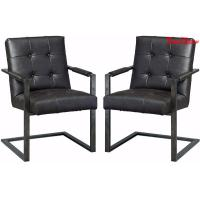 China Black Leather Executive Office Chair , Modern Office Meeting Room Chairs on sale