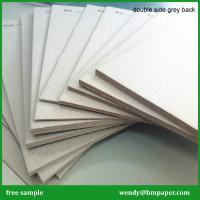 China Double side grey board /double sided cardboard paper mill/grey board pulp paper on sale