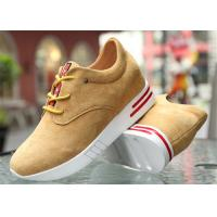Quality Cow Suede Leather Upper Casual Sport Shoes , Platform Heel Girls Casual Shoes wholesale