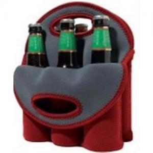 Quality Neoprene Wine Bottle Cooler/Holder/Carrier, 6-bottle Cooler Bag wholesale