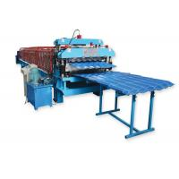 Buy cheap Metal Roofing Sheet Double Layer Roll Forming Machine By Chain Hydraulic Decoiler product