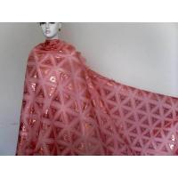 Quality Red Girls Organza Lace Fabric Eco-Friendly With Triangle Pattern wholesale