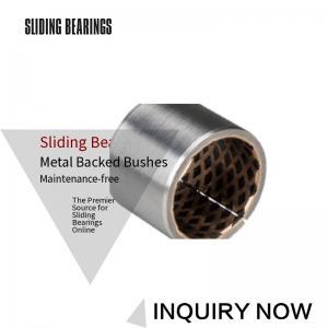 China Bimetal Bearing Bushes CuPb10Sn10 Thin Walled Graphite Self-Lubricating on sale