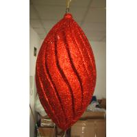 Quality Red Tinsel Large Traditional Personalised Christmas Decorations Ornaments wholesale