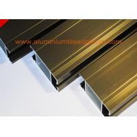 Quality Anti Corrosion Aluminium Door Profiles Extrusions Electrophoresis Champagne Color wholesale
