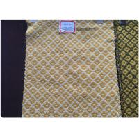 Quality Plaid Tweed Jacquard Wool Fabric Yellow White Soft Comfortable In Stock wholesale
