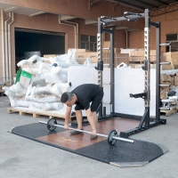 Quality Home Squat Rack Weightlifting Fitness Equipment Height Adjustment wholesale
