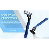 Quality Portable Four Blade Razor No Electric With Comfortable Rubber Handle wholesale
