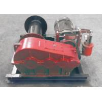 Quality Electric / Hydraulic Marine Winch Lebus Double Groove Drum With Wire Rope wholesale
