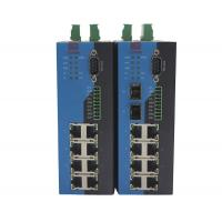 China Serial Port Combo Managed Industrial Ethernet Switch With 2 1000M SFP Slots on sale