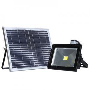 Quality Yard 20W Reflector Sensor Solar Powered LED Flood Light 120 Degree Beam Angle wholesale
