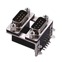 Quality D type  two part  with fork Right Angle Dual Row D Sub Connector PBT black 15 Pin wcon ROHS wholesale