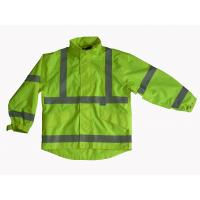 Buy cheap Waterproof and Breathable High Visibility Safety Jacket with Polyester Mesh from wholesalers