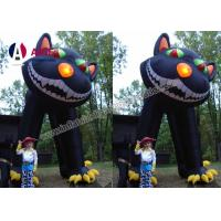 China Giant Inflatable Halloween Cat Inflatable Holiday Decor PVC Cloth For Party on sale