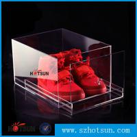 Quality 2016 New design acrylic shoe box/clear shoe box, Custom Shoe Box Manufacturer wholesale