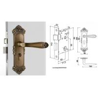 Cheap High Hardness Room Mortise Door Lock Antique Bronze Zinc Alloy Entracne Handle for sale