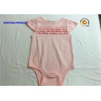 Quality 100% Cotton Baby Romper With Front Narrow Ruffles Keyhole Baby Girl Bodysuits wholesale