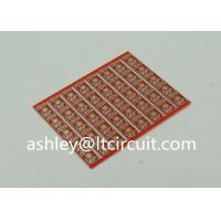 Quality Gold Plated Red Double Sided PCB Semi Holes Side Rails White Lenged wholesale