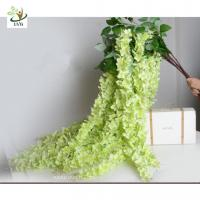 China UVG Green decorative artificial flower with silk wisteria for wedding stage decoration on sale