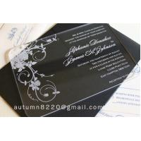 Cheap IC (12) in sales customized acrylic invitation for sale