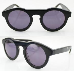 Quality Handmade Round Acetate Frame Sunglasses With Polarized Lens wholesale