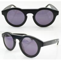 Quality Handmade Round Acetate Frame Sunglasses With Polarized Lens wholesale