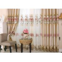 Quality Beautiful Polyester Embroidered Fabrics Contemporary Curtain Fabric wholesale