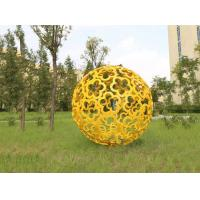 Quality Large Garden Ornaments Statues Color Painted Decorative Stainless Steel Ball Sculpture wholesale
