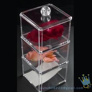 Quality clear acrylic cosmetics organizer wholesale