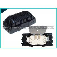 Quality 2 Round Ports Fiber Optic Splice Closure FTTH Drop Cable Type 24Pcs SC Adapter wholesale