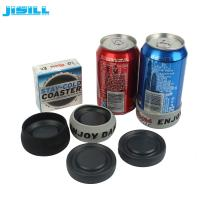 Quality HDPE Christmas Gift Ice Hockey Puck Round Shape For Holding Beer , Cans Cooling wholesale