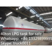 Quality 40 metric tons bulk LPG tank for sale, high quality and competitive price LPG gas storage tank for sale wholesale