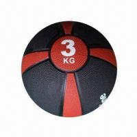 China Rubber Medicine Ball, Measures 23cm, Suitable for Therapeutic Body Training on sale