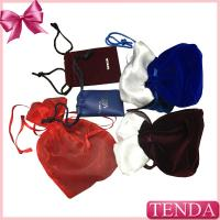 Quality Wholesale Leather Velvet Satin Flocking Suede Organza Linen Fabric Nylon Non-voven Drawstring Jewellery Jewelry Pouch wholesale